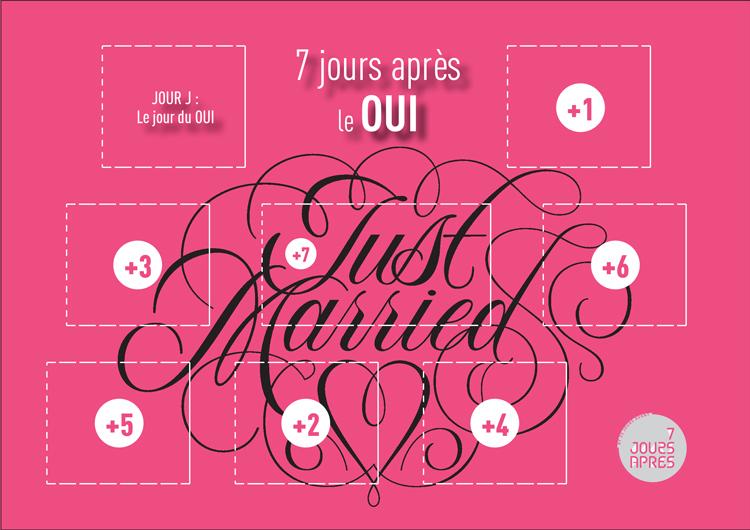 7 jours apr s un mariage 25 jours avant calendrier de l 39 avant personnaliser. Black Bedroom Furniture Sets. Home Design Ideas
